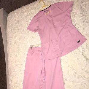 Light pink scrubs NWOT